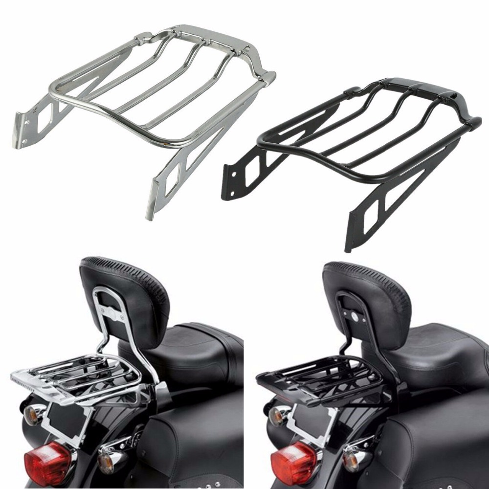 Motorcycle Air Wing Two Up Luggage Rack For Harley Softail FXST Fat Boy FLSTF FLSTFB 2006