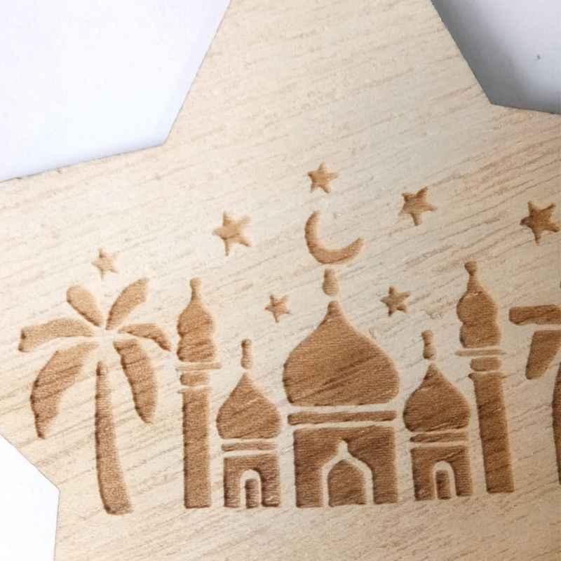 Eid Musulmano Islam Ramadan Decorazioni Hanging star Castello Pendente Placca Segno Ornamento FAI DA TE Decorazione Della Parete Rifornimenti Del Partito