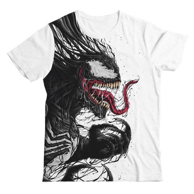 1ad01e9aee1 2019 Venom T shirt Harajuku Fashion Short Sleeve 3D T Shirts casual Tee  Shirts Male T shirt Anime Marvel