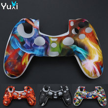 YuXi Soft Silicone Gel Rubber Case Cover For SONY Playstation 4 PS4 Controller Protection Case For PS4 Pro Slim Gamepad эрмитаж морское путешествие