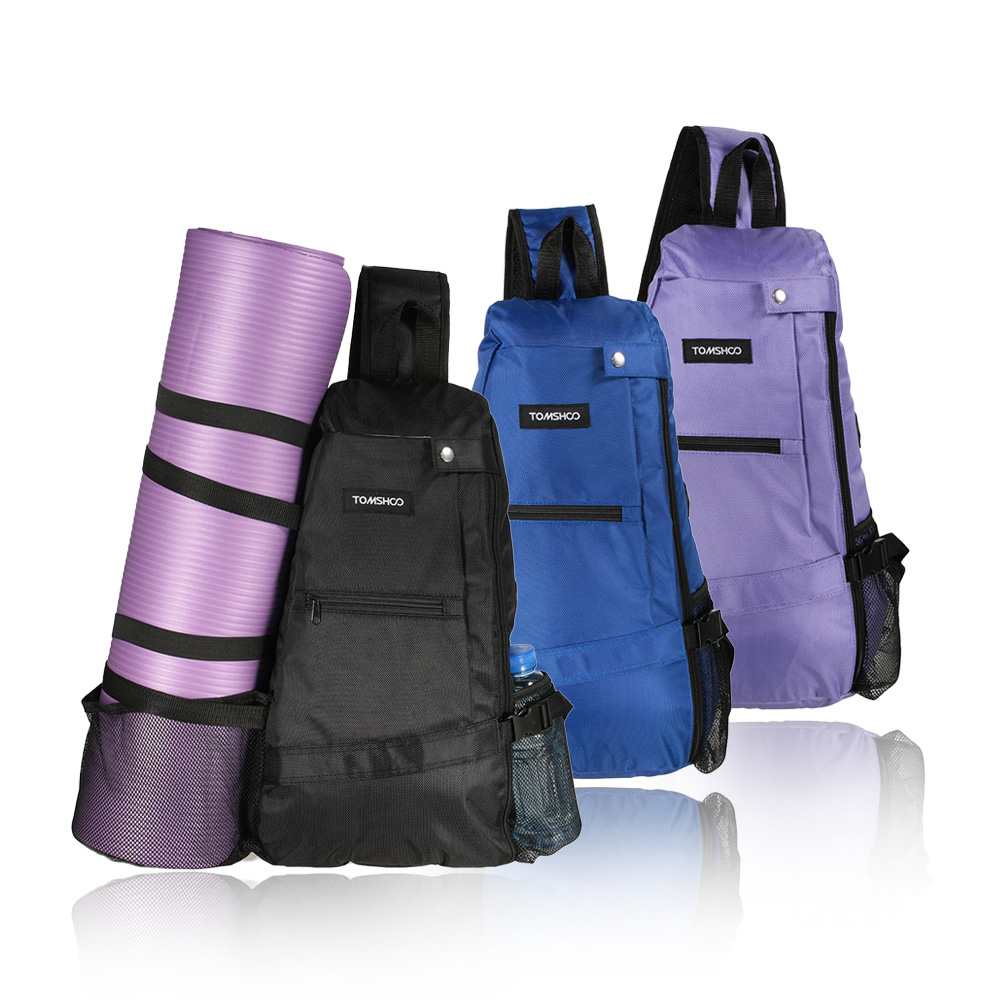 0f235415163e TOMSHOO 30L Multi Purpose Yoga Mat Carrier Bag Sling Crossbody Sports  Backpack for Yoga Pilates Workout Gym Sport Travel Hiking-in Gym Bags from  Sports ...