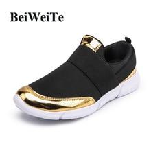 BeiWeiTe Kvinder Sommer lærred Running Sports Sko Black Light Soft Walking Turist Sko 2018 Pustende Jogging Outdoor Sneakers