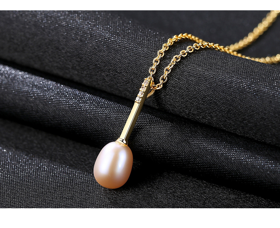 S925 Sterling Silver Necklace Women's Natural Freshwater Pearl Micro Inlay 3A Zircon Pendant Accessories US01 цена и фото