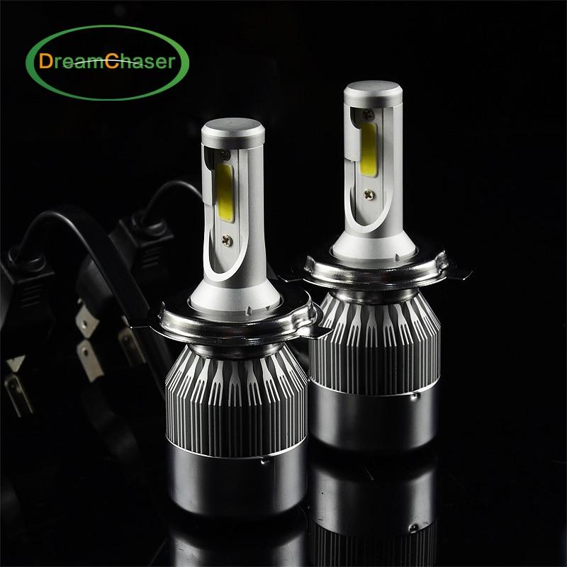ФОТО Cob H4 LED CAR EXTERNAL Light 36W 3800LM automotive headlight headlamp replace Xenon HeadLight Bulb Halogen Light Super White