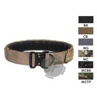 Emerson Tactical EDC Combat Belt 1.75 & 2 Multi Functional Duty Inner & Outer Two Cobra Belts Patrol Rigger Belt Hunting Black