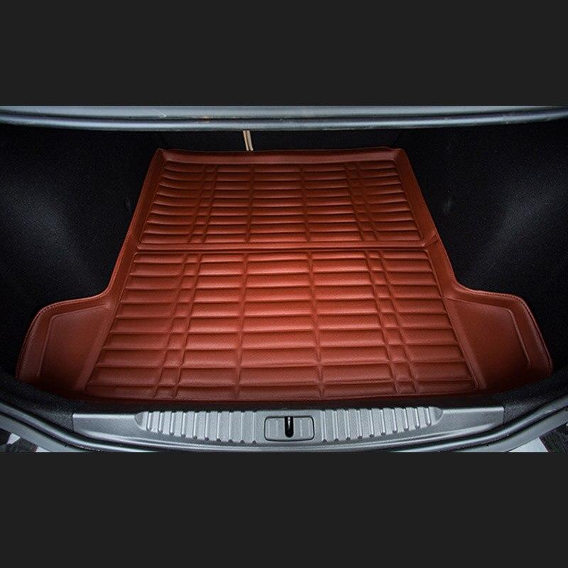 Fit Car Custom Trunk Mats Cargo Liner for Nissan LIVINA SYLPHY TEANA QASHQAI Car-styling 5D Carpet Rugs fit car custom trunk mats cargo liner for nissan livina sylphy teana qashqai car styling 5d carpet rugs