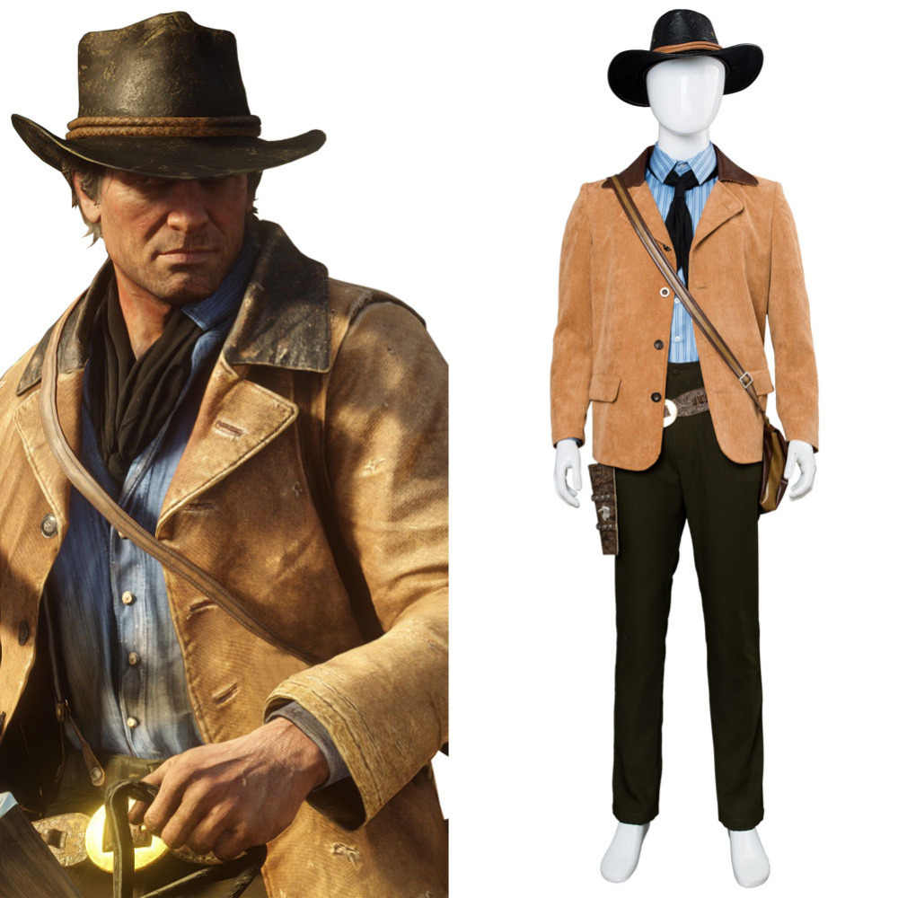 Red Dead Redemption 2 Arthur Morgan Cosplay Costume Outfit Full Suit Halloween Carnival Cosplay Costumes Tailor Made