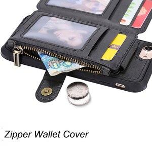 Image 4 - רוכסן ארנק טלפון מקרה עבור iPhone 11 פרו מקסימום X XR 6 6S 8 7 בתוספת Flip עור מקרה עבור iPhone XS מקס SE 2020 רך סיליקון Case
