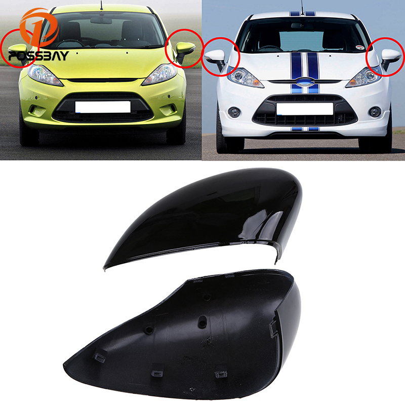 Initiative Possbay Car Rearview Mirror Cap Cover Trim For Ford Fiesta Sedan W/ Signal Lamp 2011-2017 Side Wind Mirrors Caps Car Accessories Bright And Translucent In Appearance Automobiles & Motorcycles Mirror & Covers
