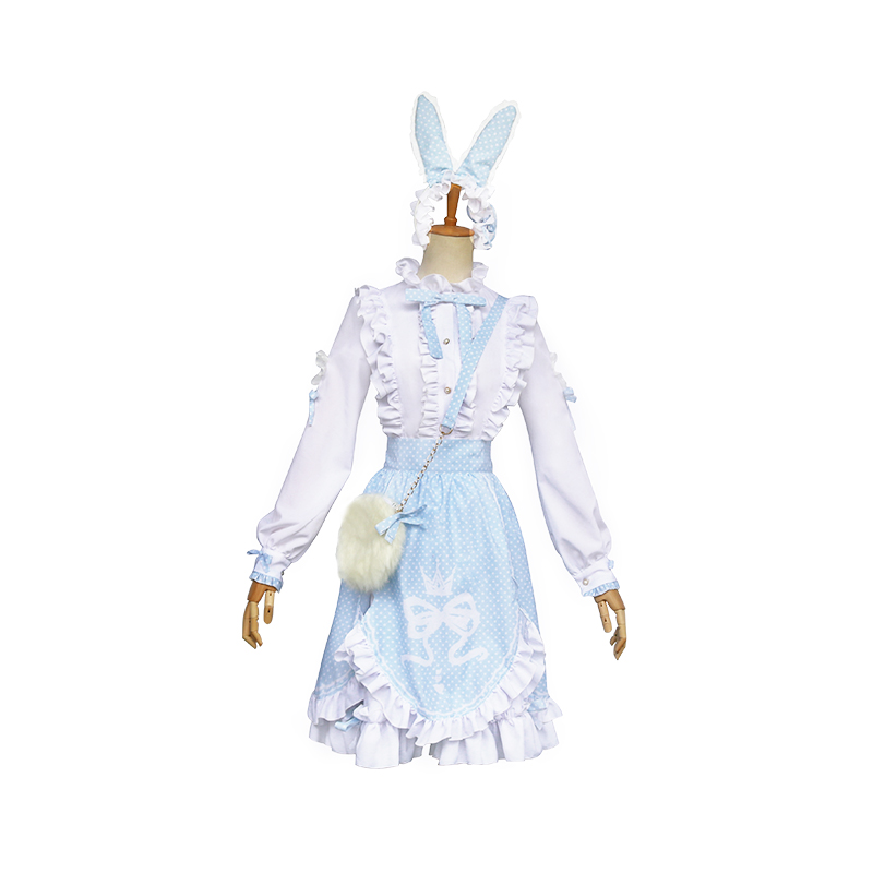 Game Miracle Nikki Usagi Cosplay Costume Drop Lovely Lolita Dress Uniform Cosplay Costume For Women Size