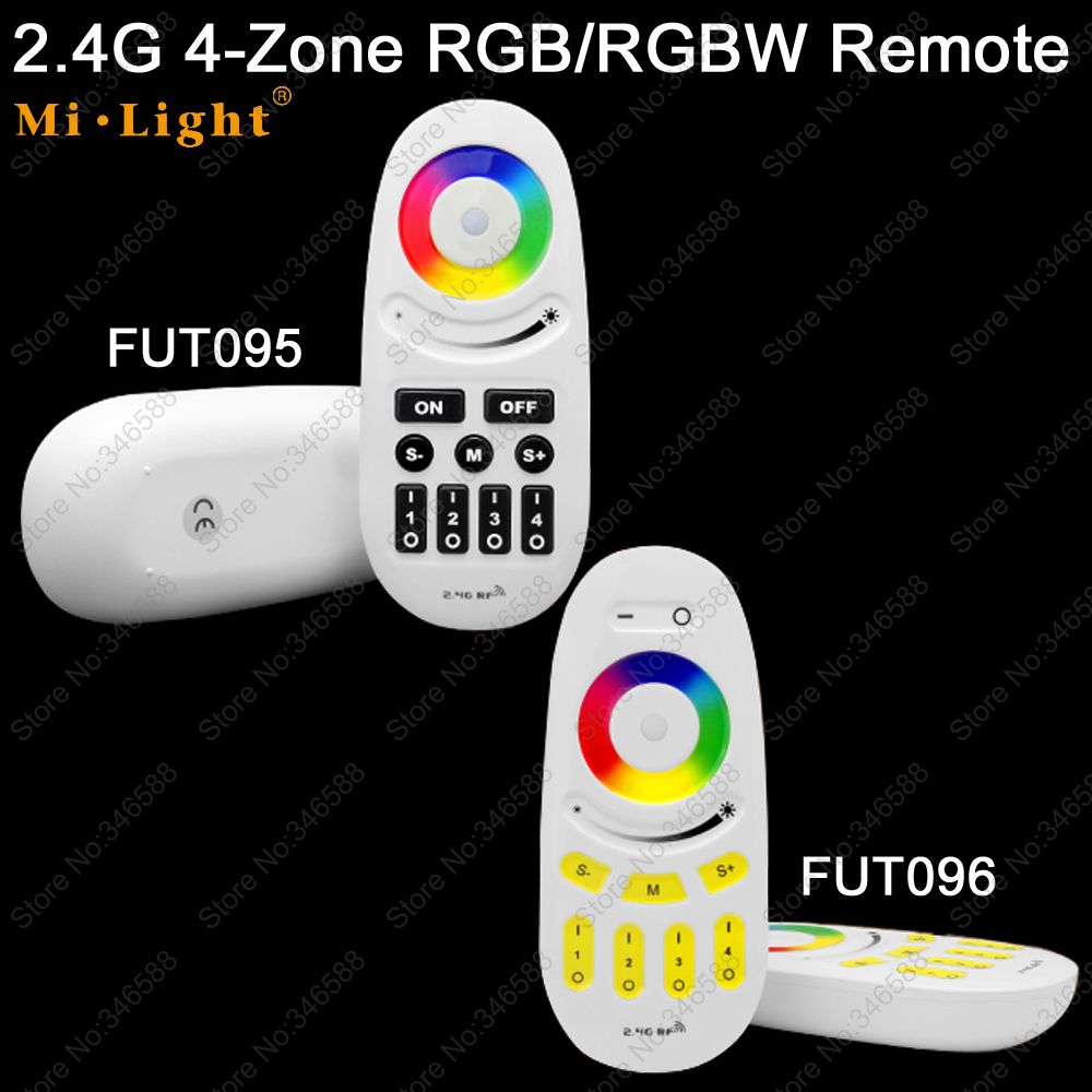 Mi.Light 2.4G RF 4-Zone Wireless Touch Screen RGB RGBW LED Remote Controller FUT095 <font><b>FUT096</b></font> for RGBW LED Bulb or LED Strip Light image