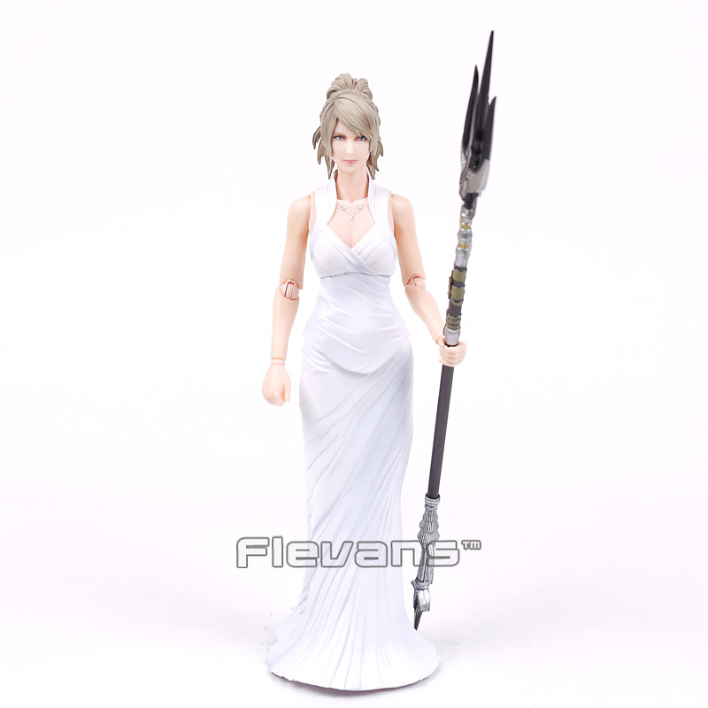 Original Play Arts KAI Final Fantasy XV 15 Lunafreya Nox Fleuret PVC Action Figure Collectible Model Toy 25cm original play arts kai final fantasy xv 15 lunafreya nox fleuret pvc action figure collectible model toy 25cm