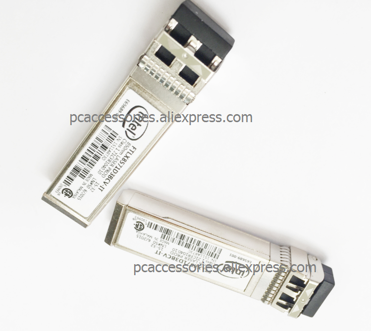 <font><b>E10GSFPSR</b></font> FTLX8571D3BCV-IT E65689-001 SFP+ Transceiver for X520-DA2 image