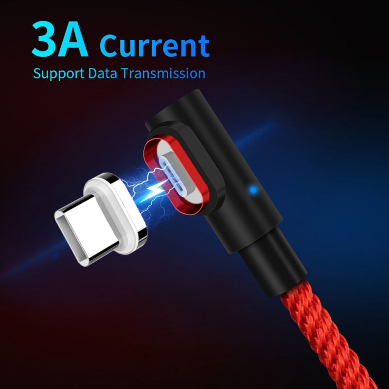 20 2m 90 degree Magnetic USB C Data Cable Magnet Type C Cord Wire for Samsung S10 S9 S8 Note 9 Xiaomi 6/8/9 Huawei P30 Mate 20 (2)