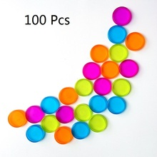 100Pcs 20mm Plastic Disc-binding Loose Book Binding Ring Disc Colorful Mushroom Hole Arc Notebook Office School Supplies