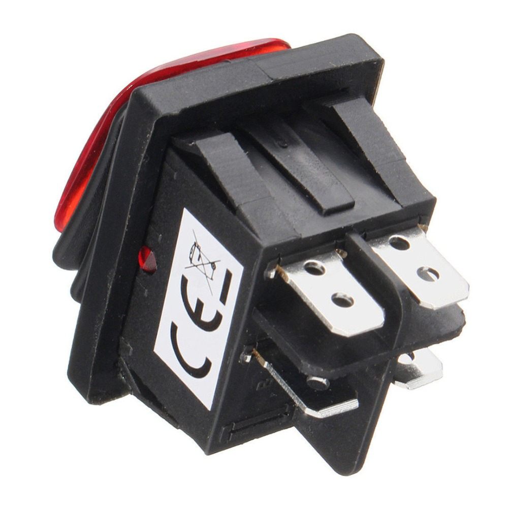 Waterproof 4 Pin 12V LED Rocker Toggle Switch Momentary Car Boat Marine On-off E