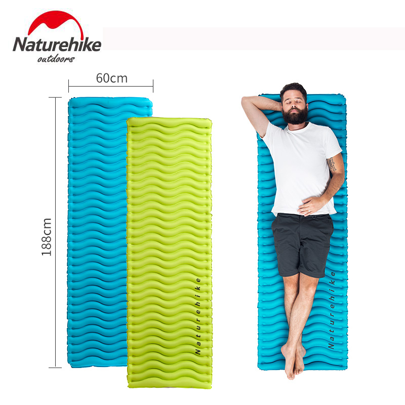 Naturehike Air Mat Inflatable Mattress Outdoor Camping Bed Ultralight TPU Moisture-proof Air Bed Inflatable Cushion Sleeping Pad inflatable mattress beach mat automatic air mattress camping mat air bed with pillow sleeping pad 193 65