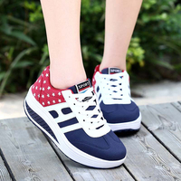 New 2017 Spring Autumn Wedges High Heels Ladies Sports Shoes Vulcanize Women Lace Up Shoes Female