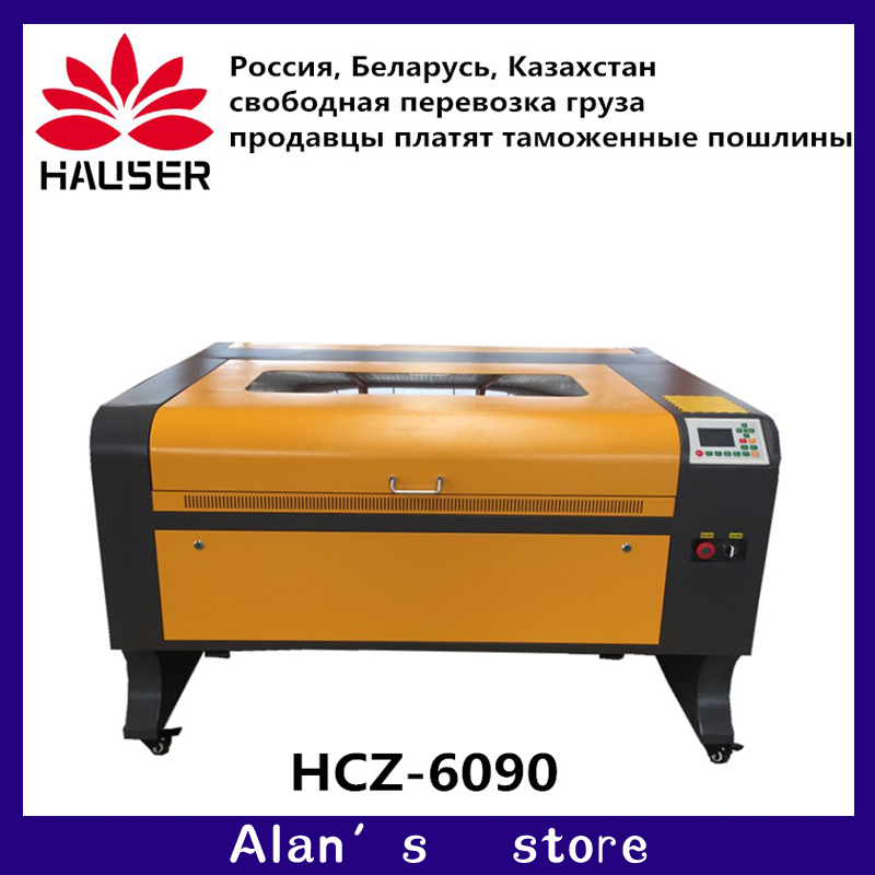 Free shipping 57 motor 6090 80w ruida Co2 laser engraving machine cnc laser engraver DIY laser marking machine carving  machine