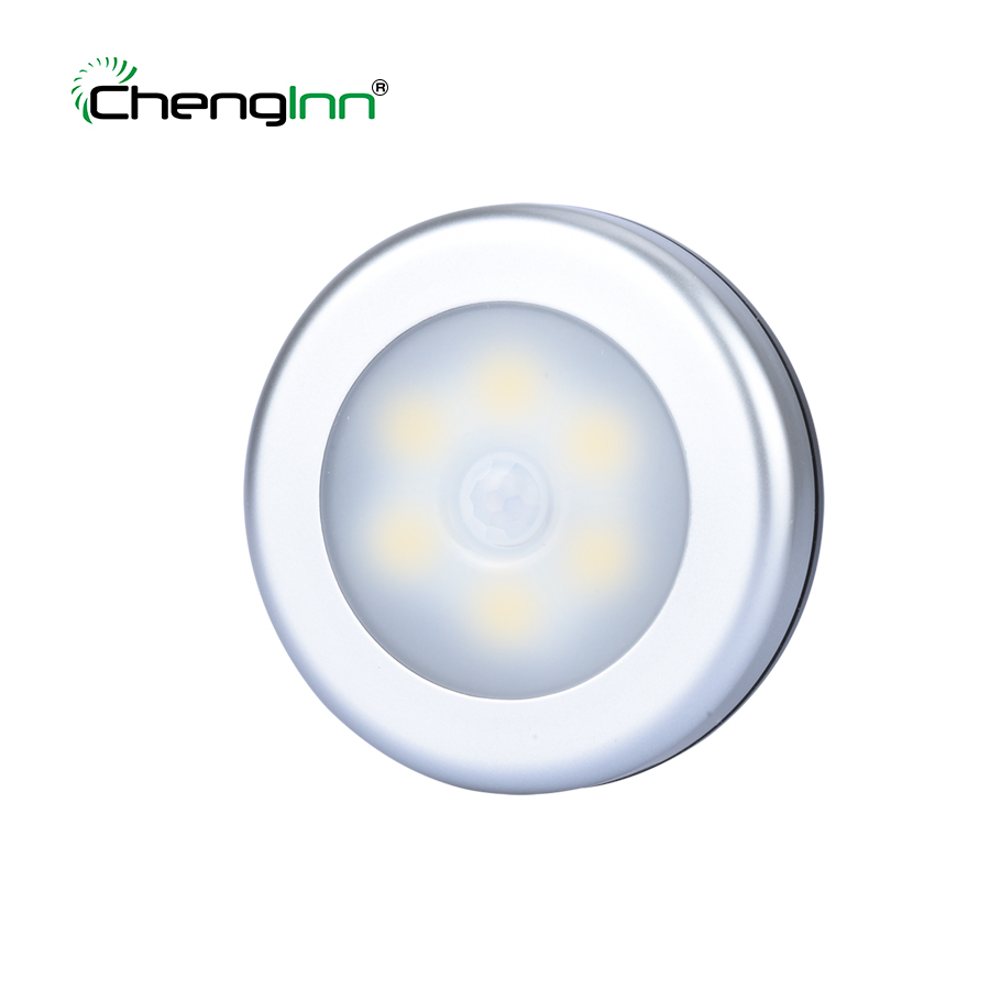 Chenglnn Motion Sensor Energy Saving LED emergency light lights Lamp Night Lighting 3 AAA Battery For Closet Bedroom luminaria