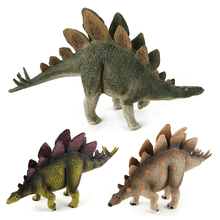 Jurassic Dinosaur Model Animal Toys Stegosaurus Plastic Action Toys Figures Ornaments Doll Gift For Boys #E insect model figures figurines toys plastic simulation spider cockroach cat monkey horse zoo animal doll gift