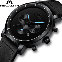 MEGALITH Fashion Chronograph Watches For Men Top Brand Luxur