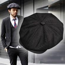 Casquette Four Seasons Cotton And Linen Black Mens Newsboy Hat Male Beret Men And Women Retro England Visor Big Head Cap BLM20