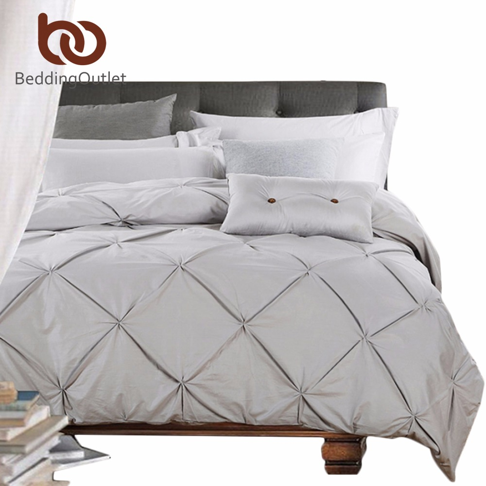 cover sheet promotion shop for promotional cover sheet beddingoutlet silver bedding luxury gray bed sheet set solid european cotton pinch pleat duvet cover queen king 4pcs bedspread