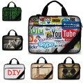 Пользовательские изображения Новые стильные хлопок мягкий Холст сумка для ноутбука 13.3 15.6 17.3 сумка для ноутбука ноутбук сумка для mackbook