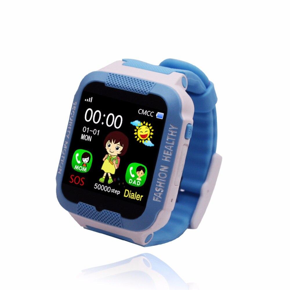 Nuevo Bebé Smartwatch llamada SOS para niños dispositivo de localización rastreador chicas a salvo reloj Anti-perdido Monitor Software de aprendizaje