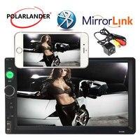 2018 new Multimedia HD USB Bluetooth back up monitor digital display 7 inch Auto car Radio 2 DIN LCD Touch Screen Mirror Link