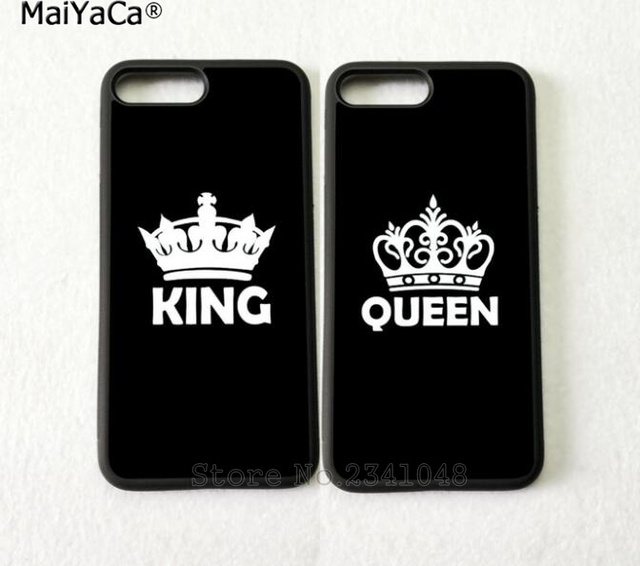 huge discount 85079 d44bf US $4.38 |Aliexpress.com : Buy king and queen best friends BFF love pair  silicone soft phone cases for iPhone 5s se 6 6s plus 7 7plus 8 8plus X XR  XS ...