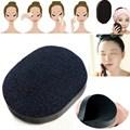 Pro 1 unids Soft negro Natural Bamboo Charcoa esponja de lavado exfoliante limpieza soplo cosmético herramientas de belleza