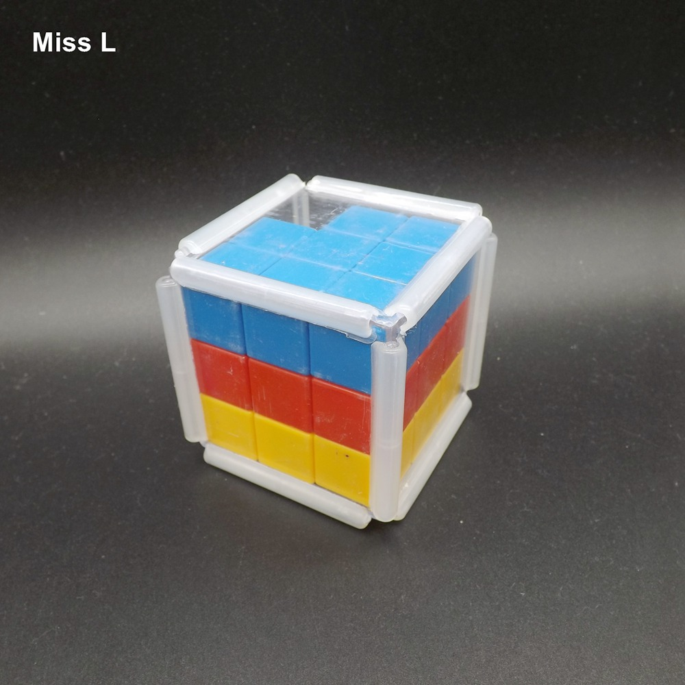plastic rainbow slide cube block gravity puzzle brain mind game early head start training toys kids gifts in magic cubes from toys hobbies on