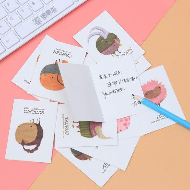 1 pcs Mini Cute cartoon animal folding message card with envelope ...