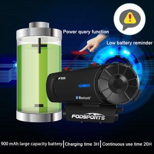 Image 4 - Fodsports 2 pcs FX8 אופנוע קסדת אינטרקום 8 רוכב 1000m קסדת Bluetooth אוזניות קבוצת אינטרקום Moto Intercomunicador FM