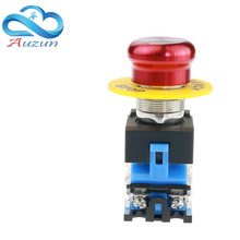22 mm metal stop switch and other stainless steel waterproof antirust aluminum head high current power LA160-22A9-11ZS