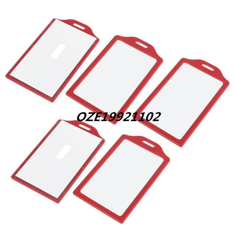 Portable Hole Luggage ID Name Label Card Protector Holder Red