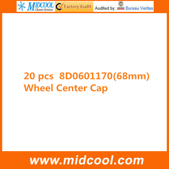 FREE SHIPPING 20 PCS WHEEL CENTRE CAP FOR 8D0601170  68MM