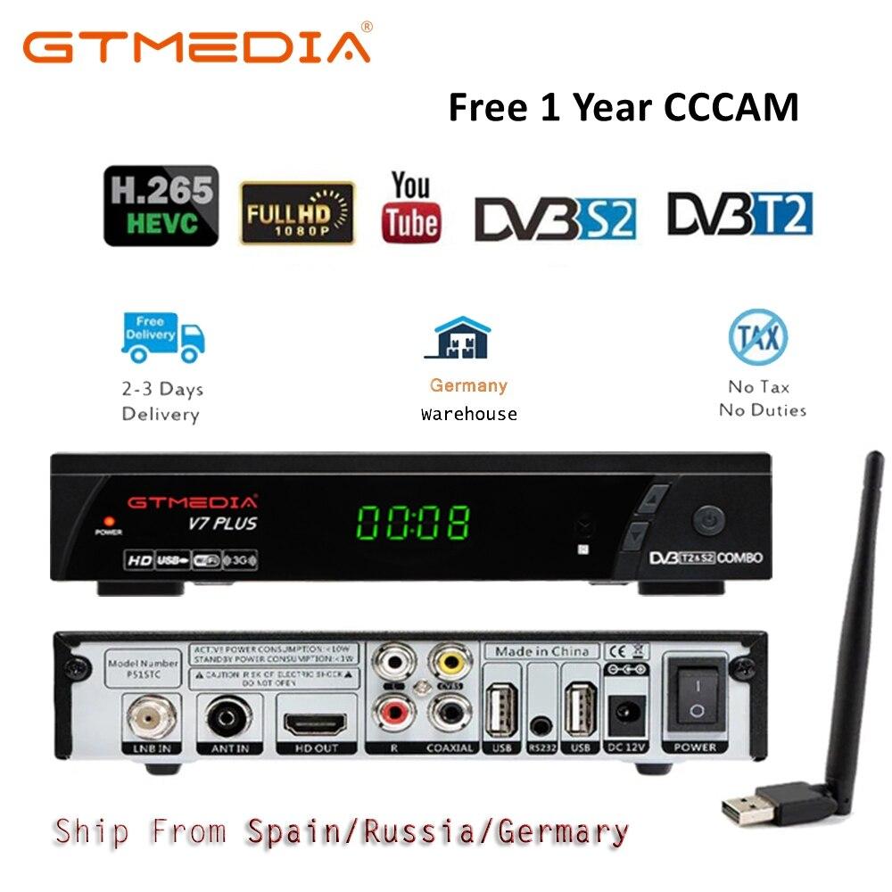 GTmedia V7 Plus DVB T2 Digital TV Box Terrestrial Receiver DVB-T2 DVB S/S2 MPEG-2/-4 H.265 HDMI Set Top Box For RUSSIA/Europe