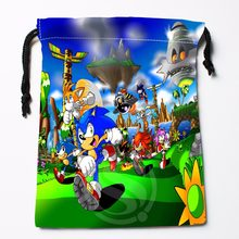 Fl-Q110 New Sonic #11 Custom Printed receive bag Bag Compression Type drawstring bags size 18X22cm 711-#Fl110(China)