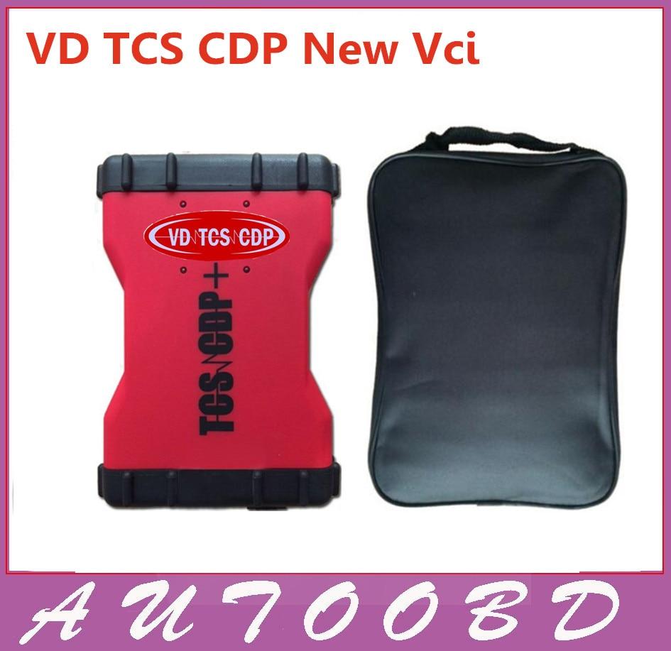 Hot Selling 2014 R2+Keygen New VD TCS CDP Red VD600 Diagnostic Scanner Tool OBD2 CARs/TURCKs Same as MVD CDP One Year Warranty