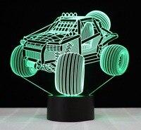 Novelty 3D SUV Car Shape NightLight USB Colorful Visual LED Table Lamp Touch Button Baby Sleep