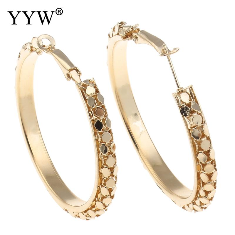 Big Round Earrings Basketball Wives Trendy Gold Color Fashion Jewelry Wholesale Large Hoop Earrings Women