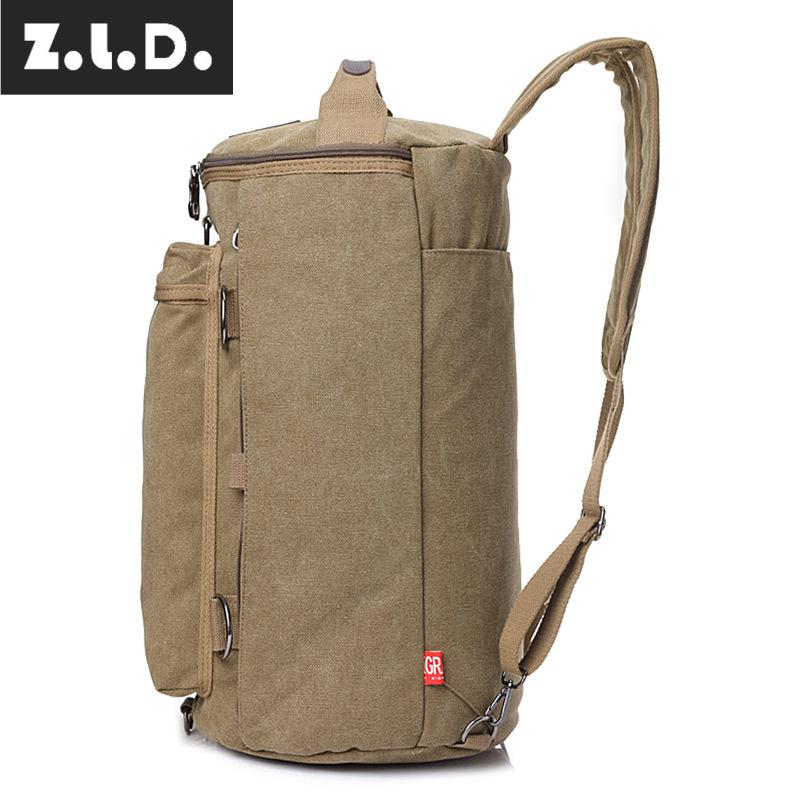 Z.L.D. new retro multifunctional backpack mens travel bags computer backpack canvas weekend travel bag beach bag