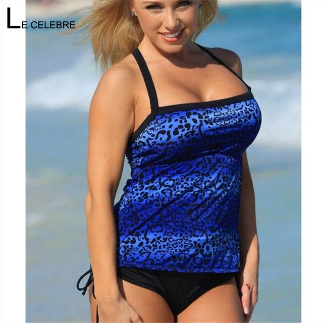 d473392741 2018 New Women Swimwear Sexy Two piece Tankini Print Strappy Swimsuit  Bather Beach Bathing Suit Sport Bodysuit Plus size 3XL