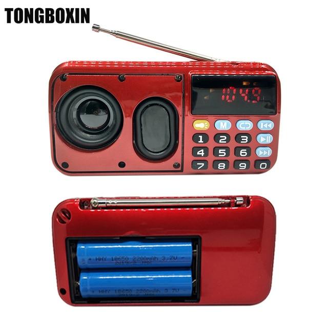C-803 Поддержка два 18650 батарея два TF карты портативный MP3 радио динамик Super Bass TF USB FM плеер светодиодный фонарик 3,5 мм наушники из