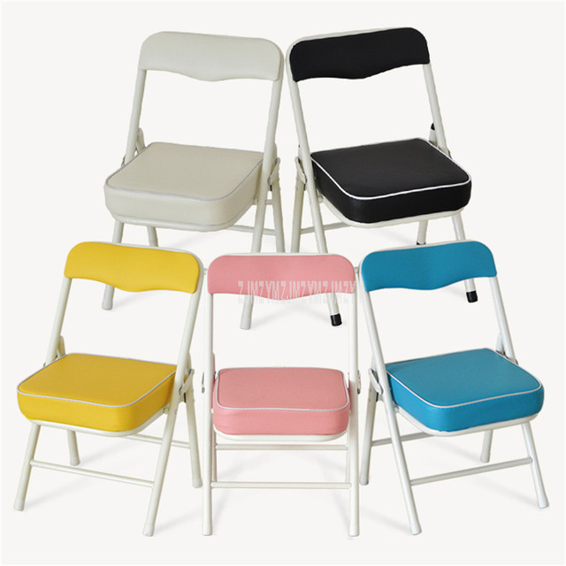 Foldable Children Chair Metal Steel Frame Sponge Filler Baby Kids Learning Writing Study Mini Low Chair For Doll House Furniture 2