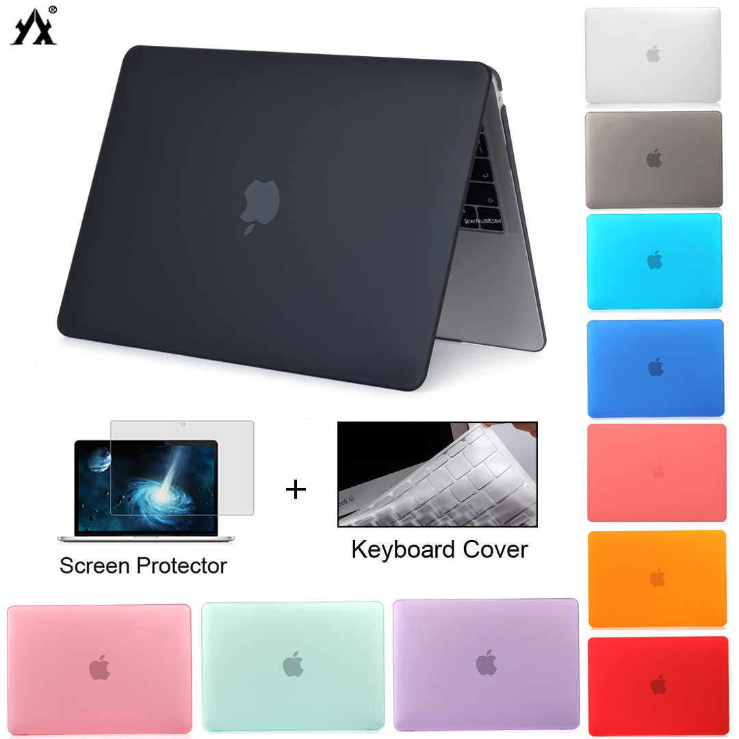 Laptop Case Voor Macbook Air 13 A2179 2020 Pro 11 12 13 13.3 15 A2289 Nieuwe Touch Bar Id Voor mac Book Pro 16 A2141 + Toetsenbord Cover