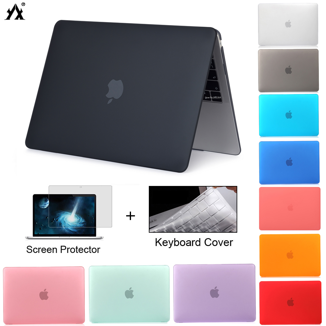 Laptop Case For Macbook Air 13 A2179 2020 Pro Retina 11 12 13 13.3 15 New Touch Bar/ID for Mac book Pro 16 A2141 +keyboard Cover(China)
